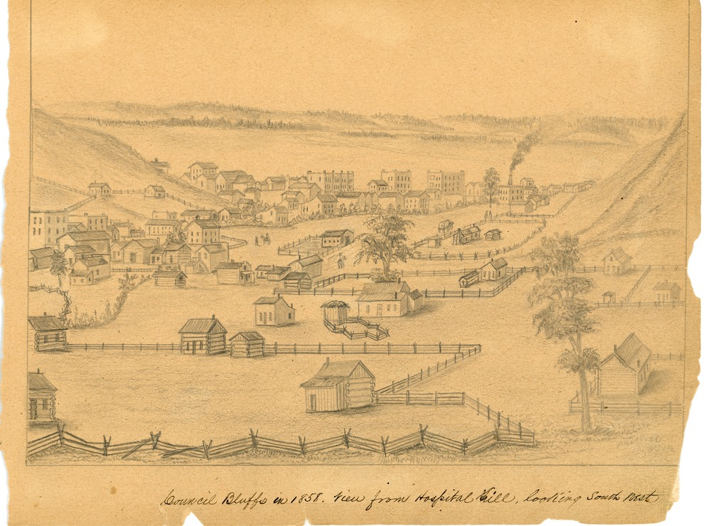 Simons Print - Council Bluffs in 1858.tif