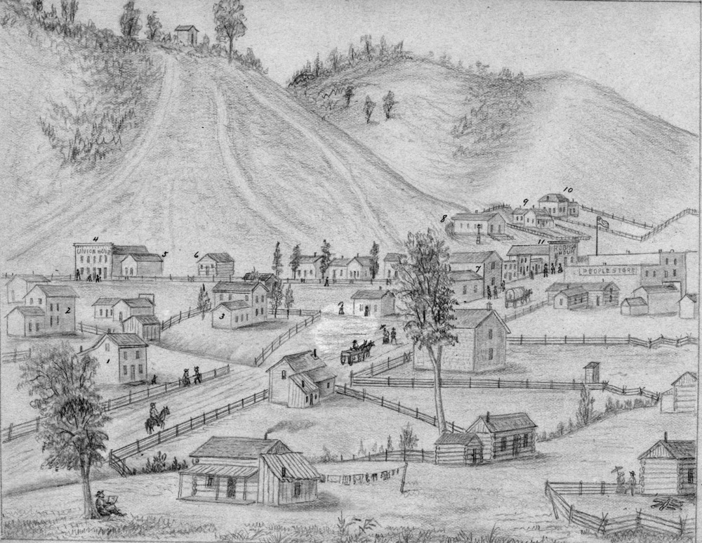 1-Simons Print - Council Bluffs in 1858 Looking South.tif