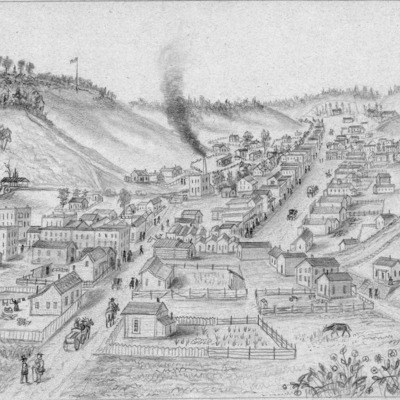 1-Simons Print - Council Bluffs in 1858 Looking North.tif