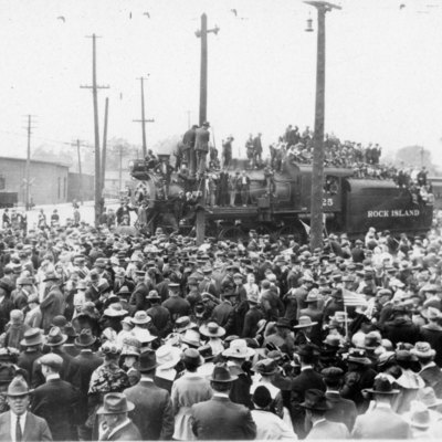 Arrival of 168th Infantry, 1919