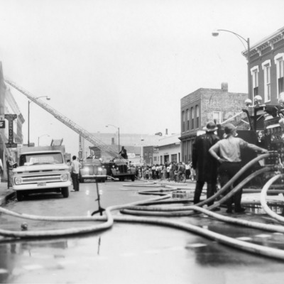 Fire Fighters - Central Block Bldg 515-517 S. Main 7-5-1964.tif