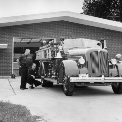 Fire Fighters - 9-1-1957 new fire station.tif
