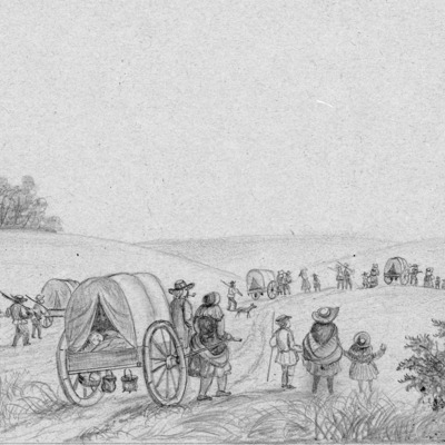 1-Simons Print - Mormons crossing the plains.tif