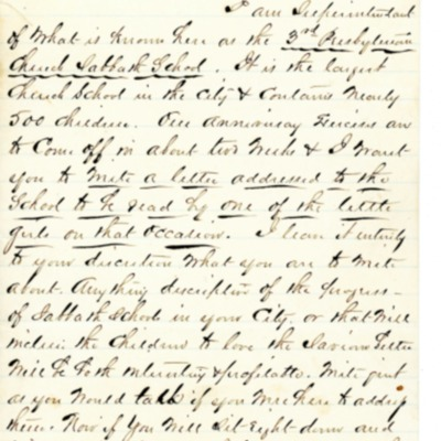 Letter to Amelia Bloomer from F. V. Chamberlain.
