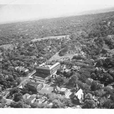 Aerial view of Abraham Lincoln High School