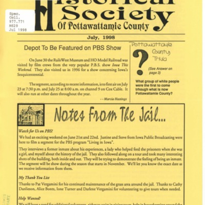 Historical Society of Pottawattamie County Member Journal